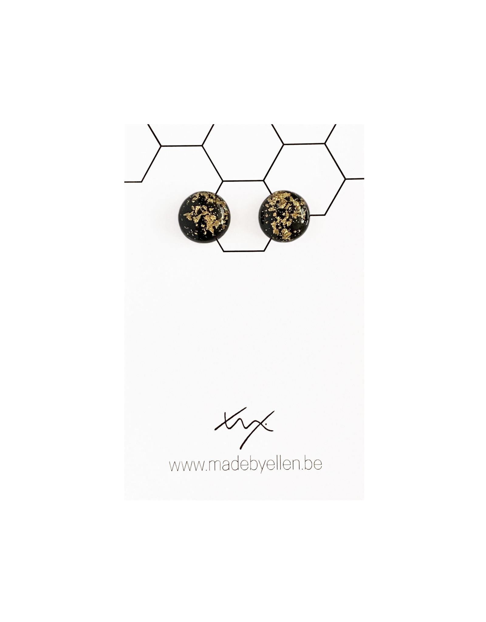 Stekertjes goudfolie 12mm zwart