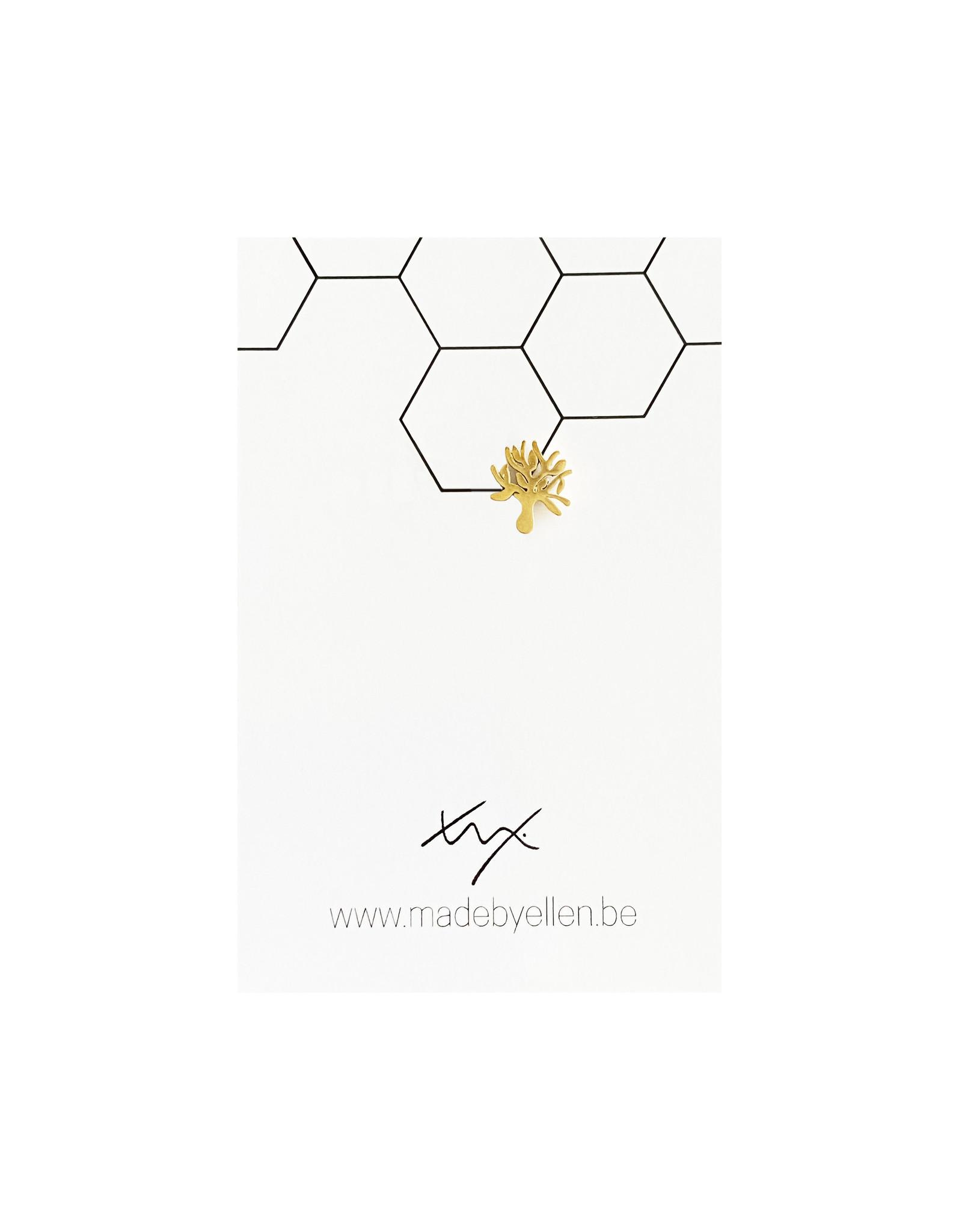 Stekertje levensboom goudkleurig RVS 1 stuk