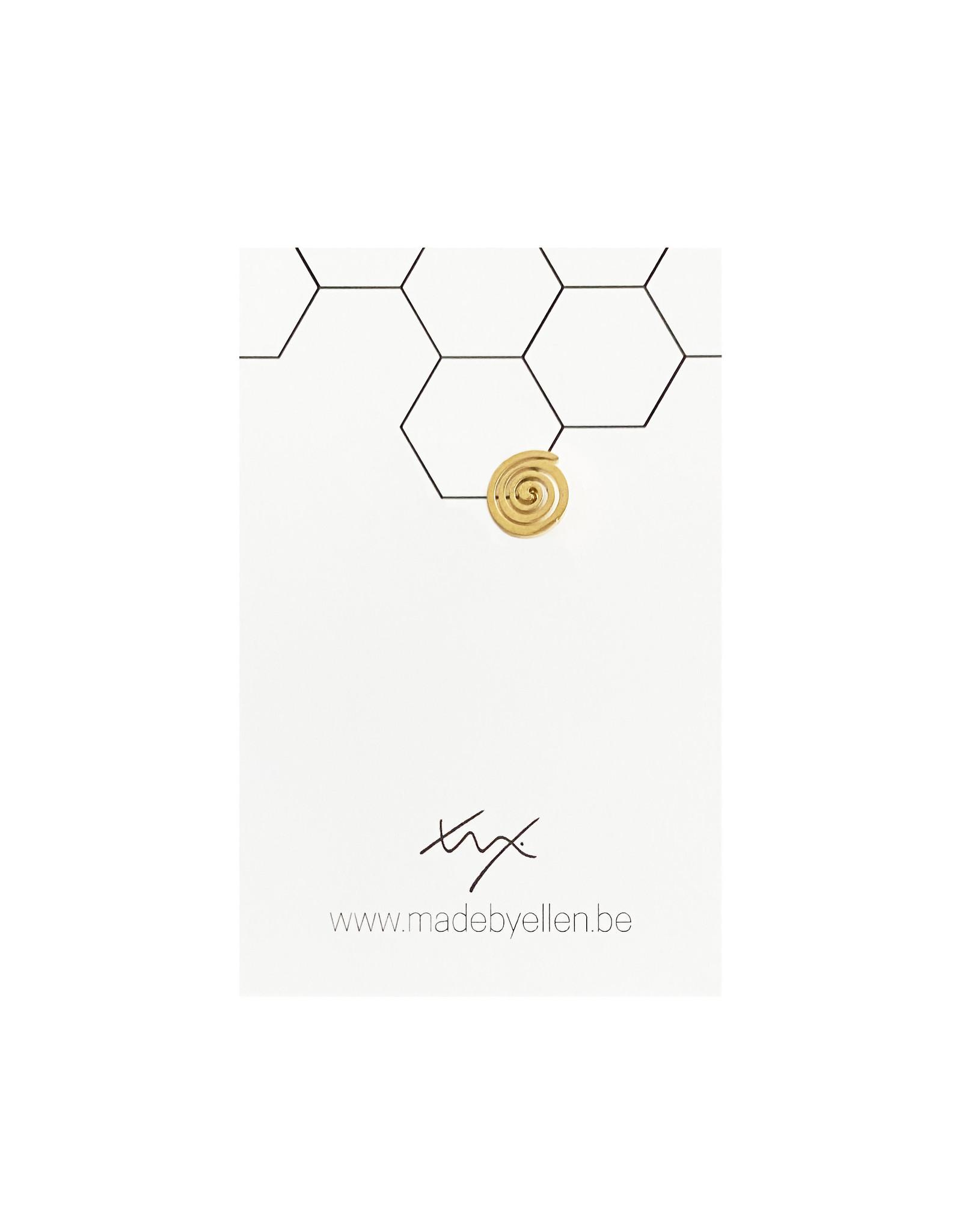 Stekertje spiraal goudkleurig RVS 1 stuk