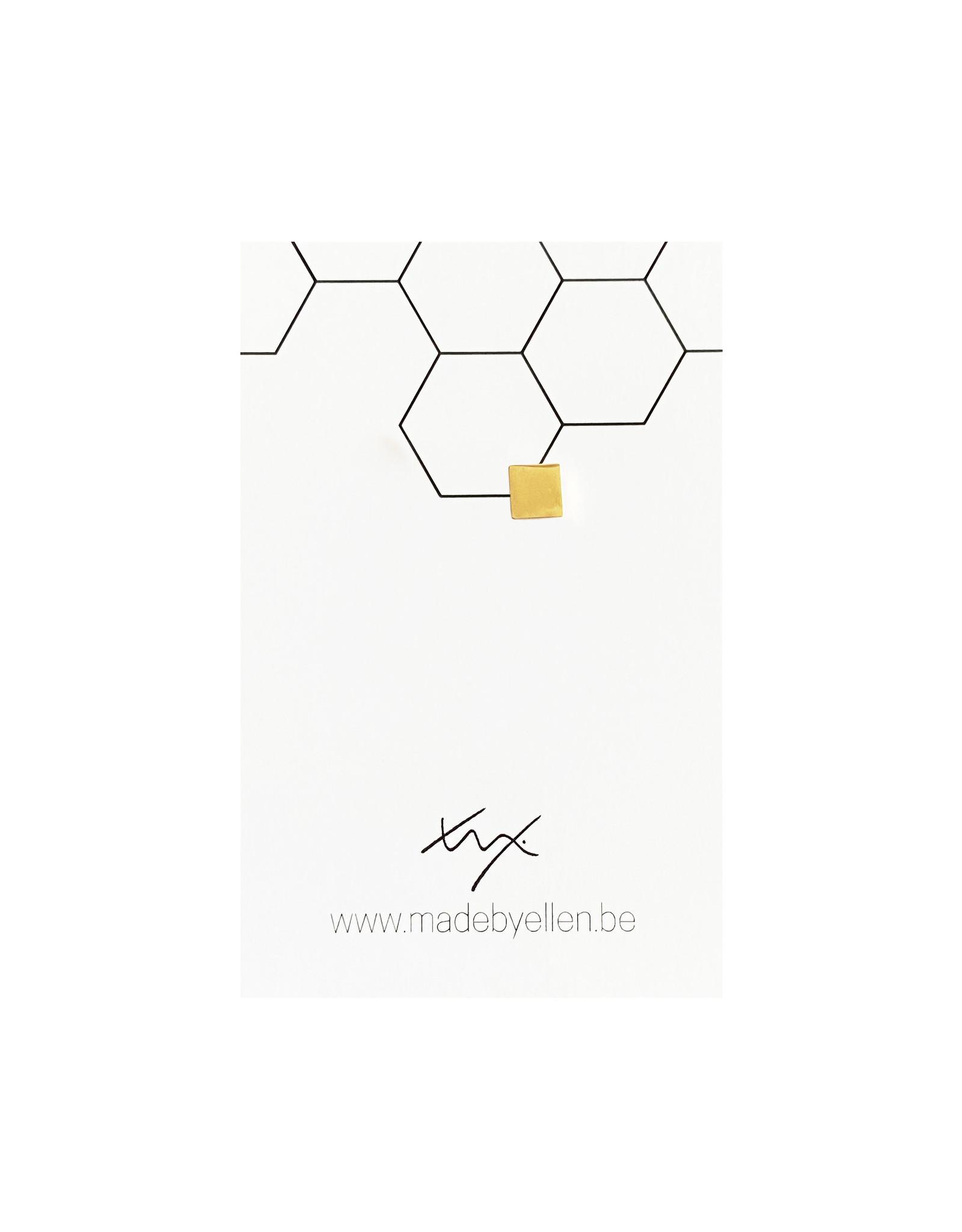 Stekertje vierkant goudkleurig RVS 1 stuk