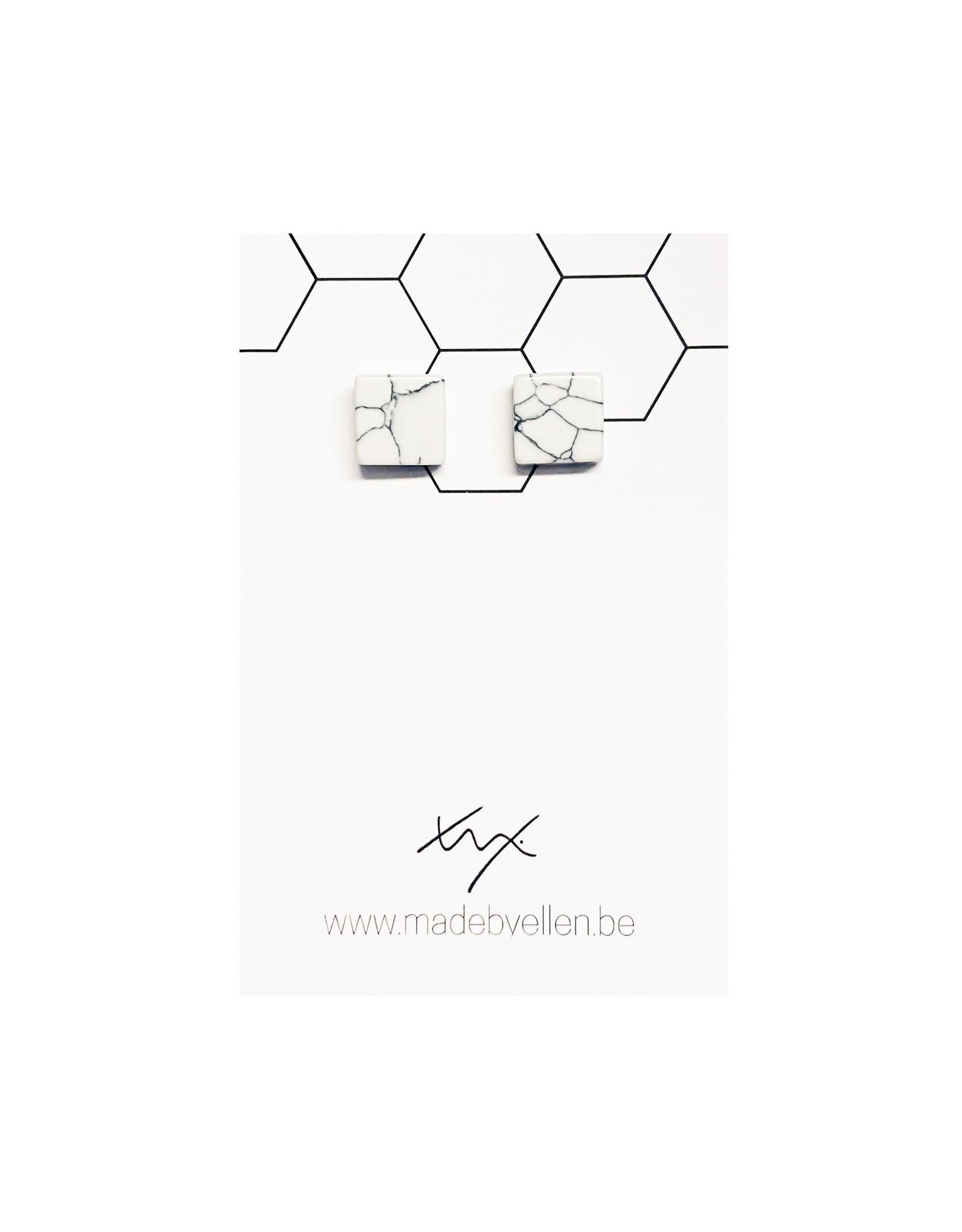 Stekers marmer vierkant wit 10mm dik