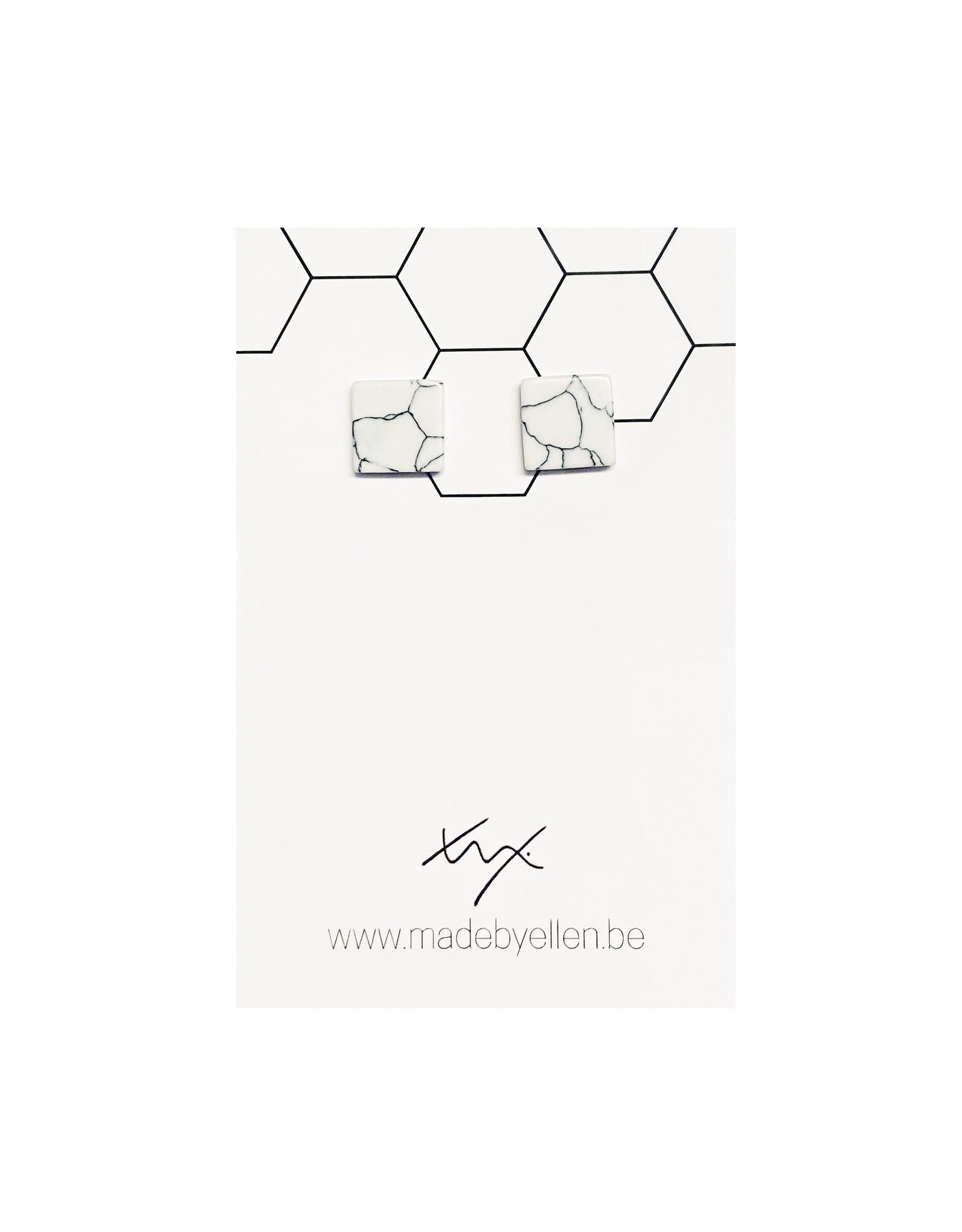 Stekers marmer vierkant wit 10mm