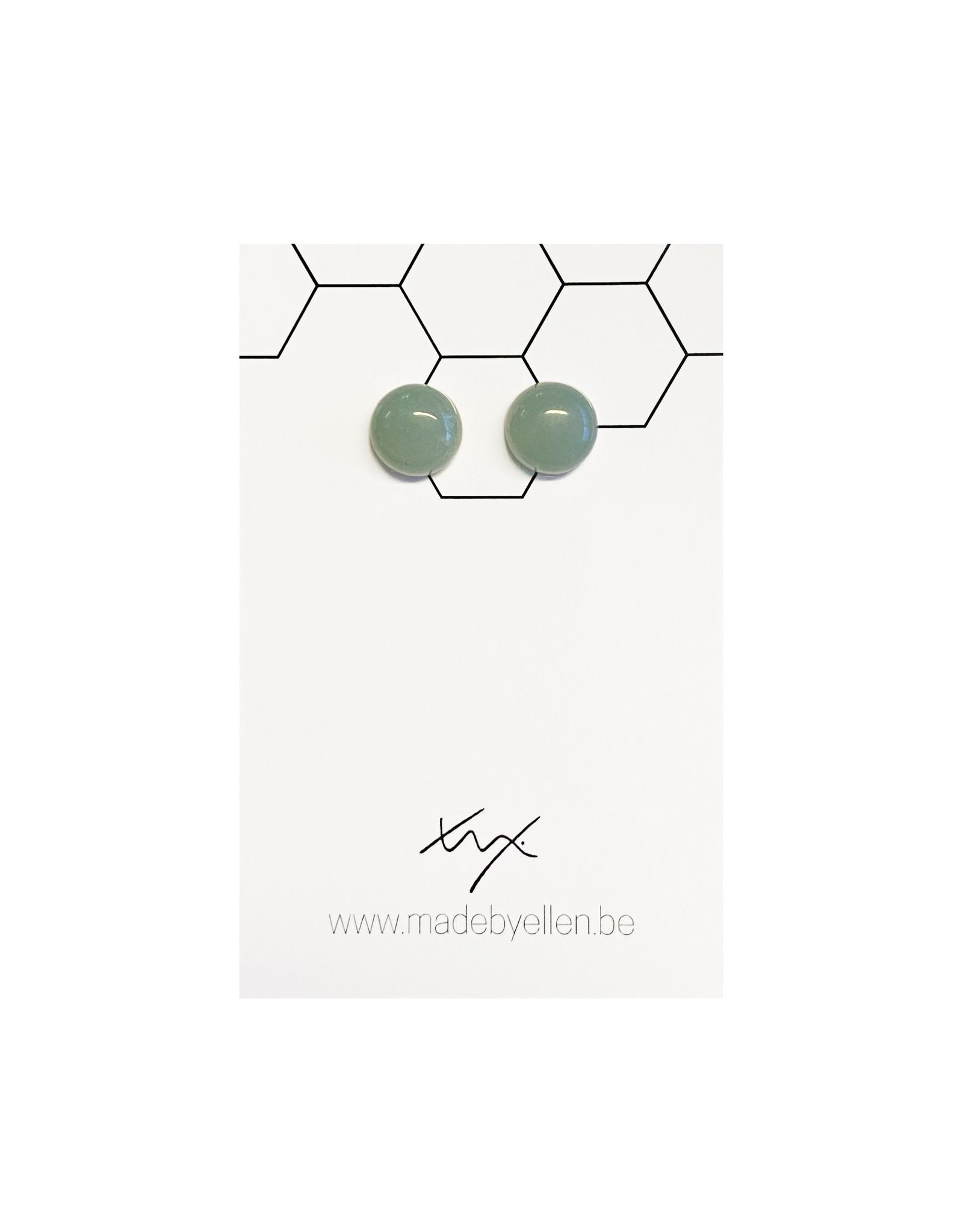Stekertjes natuursteen 12mm jade