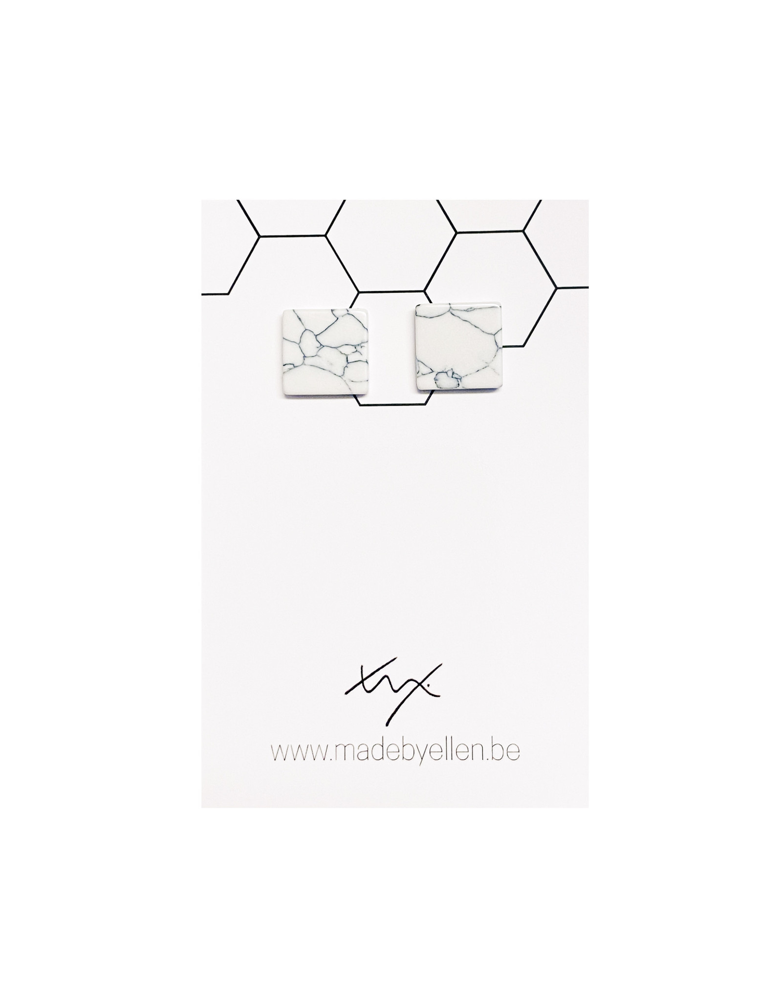Stekers marmer vierkant wit 12mm