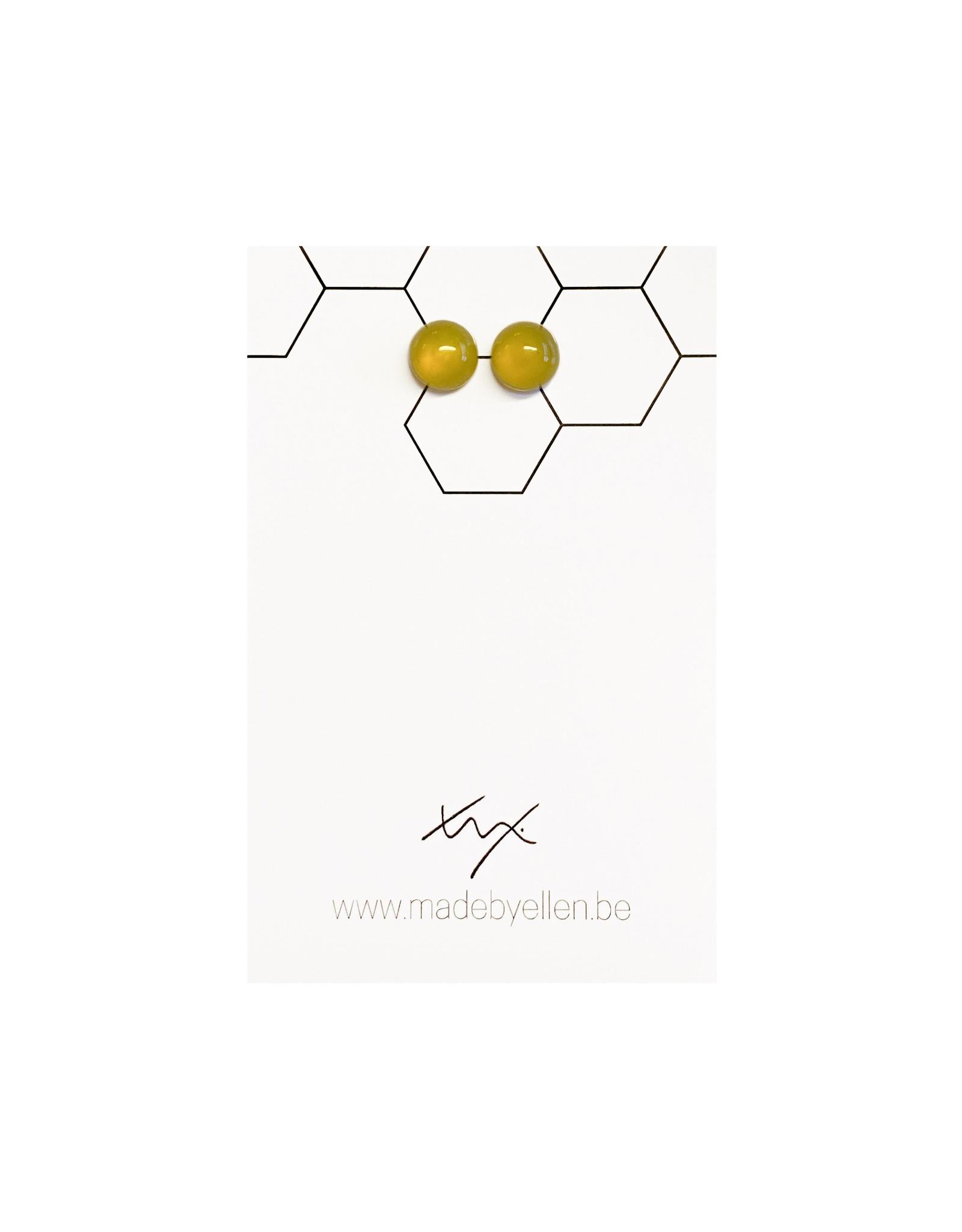 Stekertjes natuursteen 8mm geel