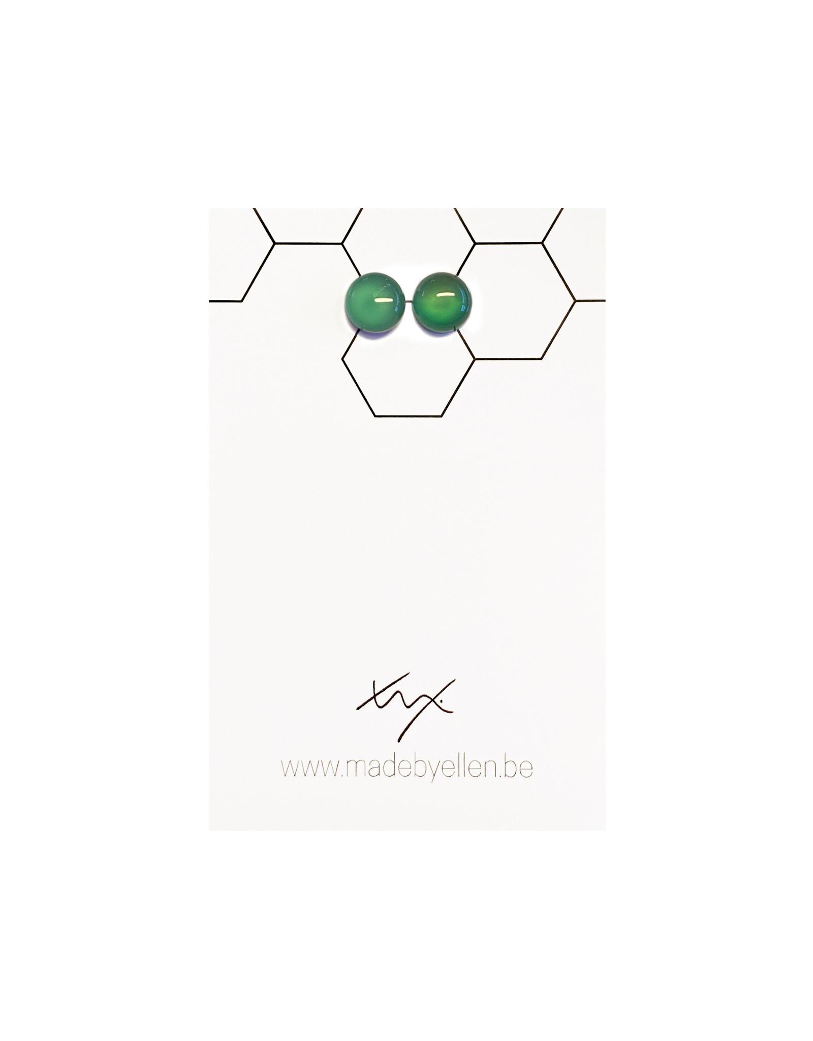 Stekertjes natuursteen 8mm groen