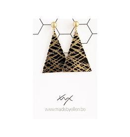 Hangers driehoek zwart-goud stekertje