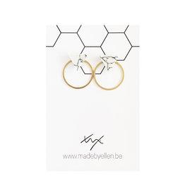 Stekers marmer driehoek wit met ring