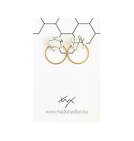 Stekers marmer rond wit 12mm met ring