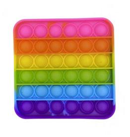 Pop it vierkant regenboog