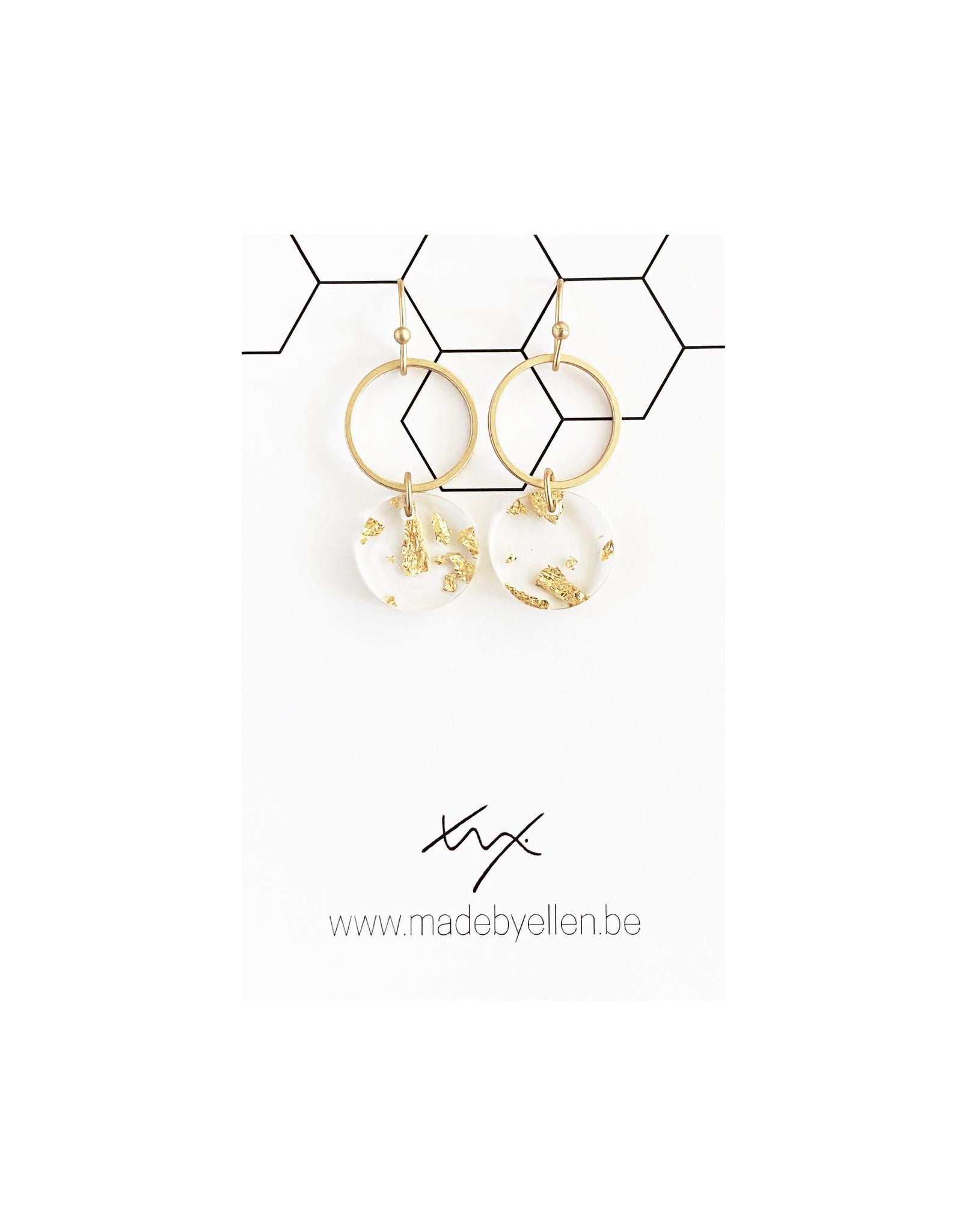 Mix&match hangertje cirkel & schijfje goudfolie