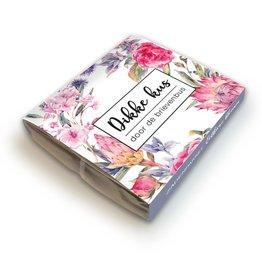 Eetbare bloemen pakketje 'Dikke kus door de brievenbus'