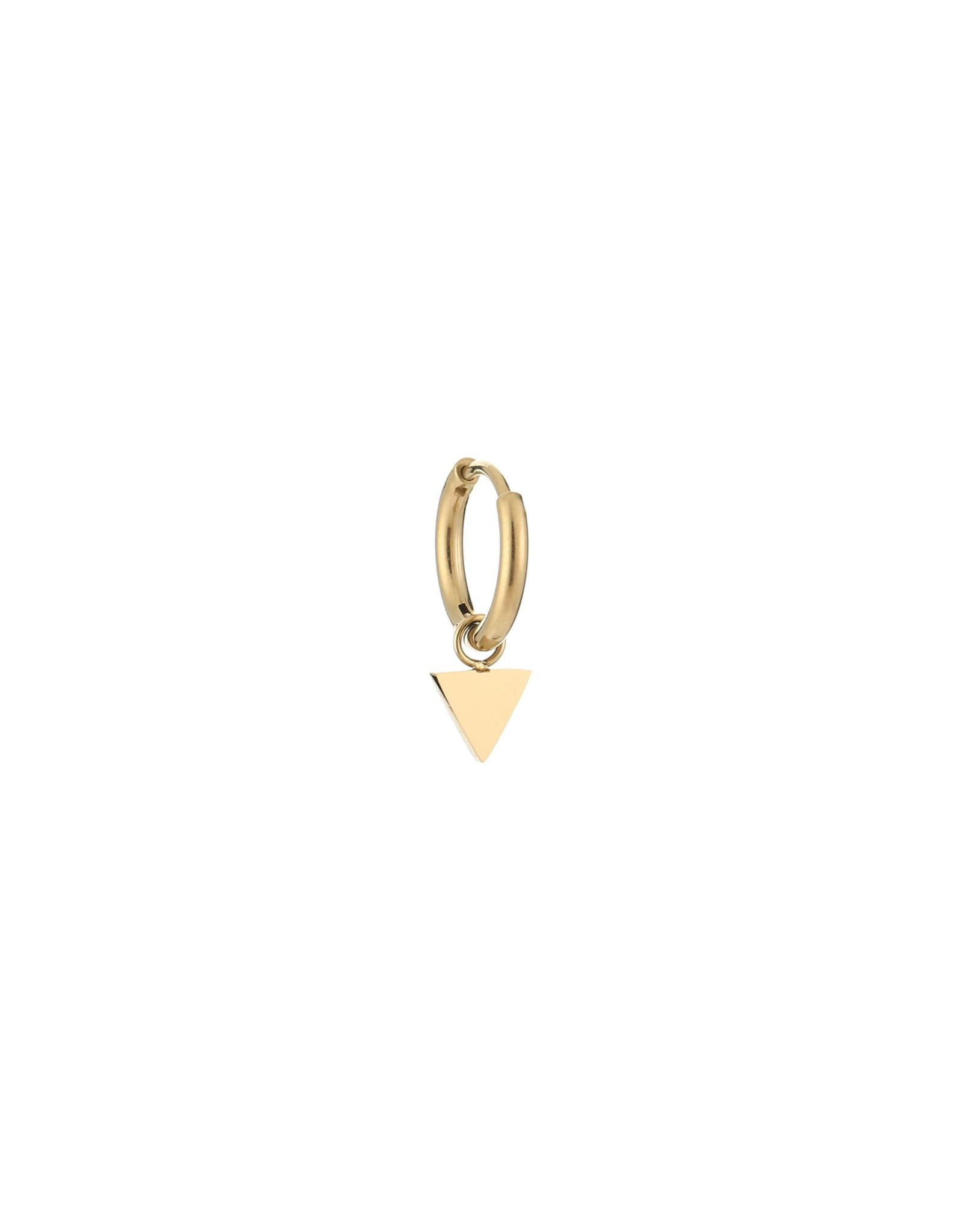 Creool RVS 10mm driehoek goudkleurig 1 stuk