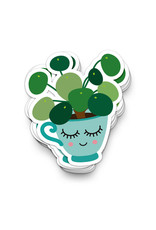 Sticker vinyl pannenkoekenplant