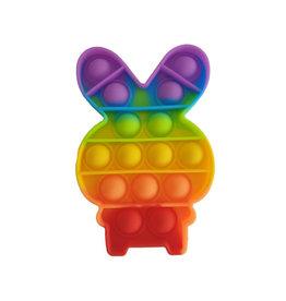 Pop it konijn regenboog
