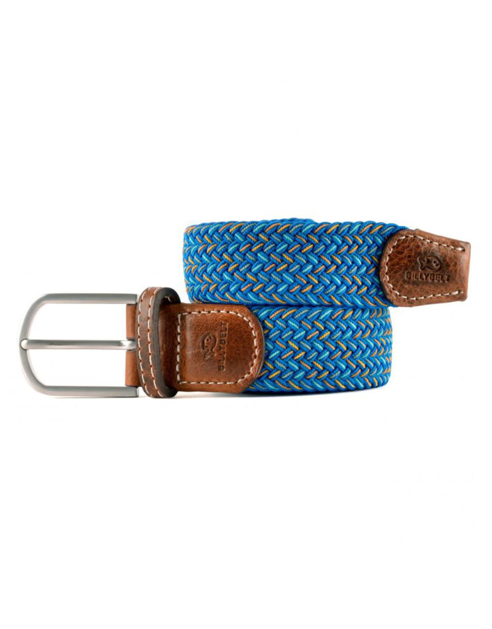 Riem visgraat fel blauw/groen/geel/grijs T1