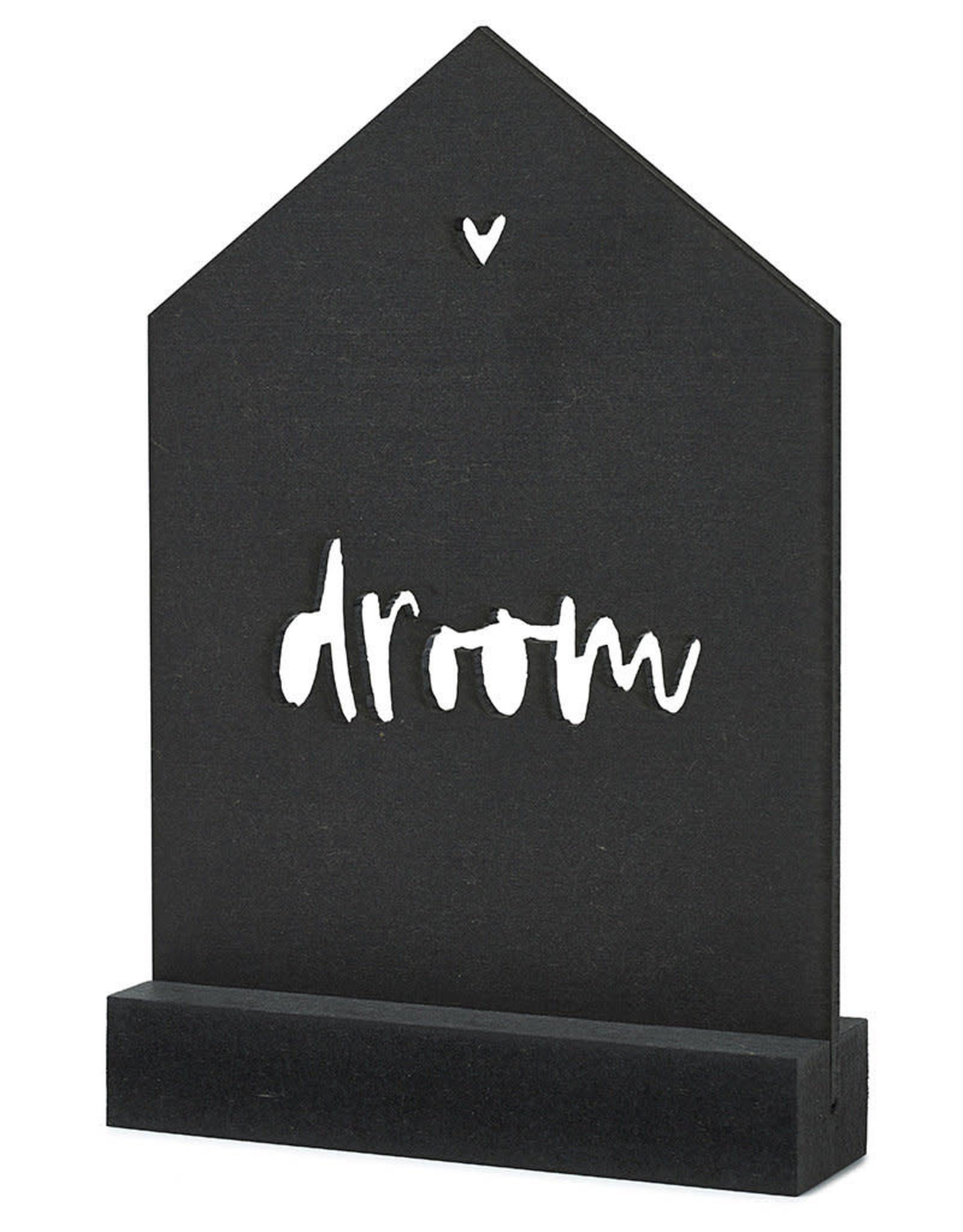 Gestanste kaart met houder 'Droom'