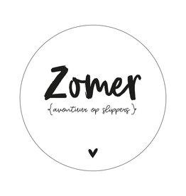Muurcirkel 'Zomer - avontuur op slippers' 30cm