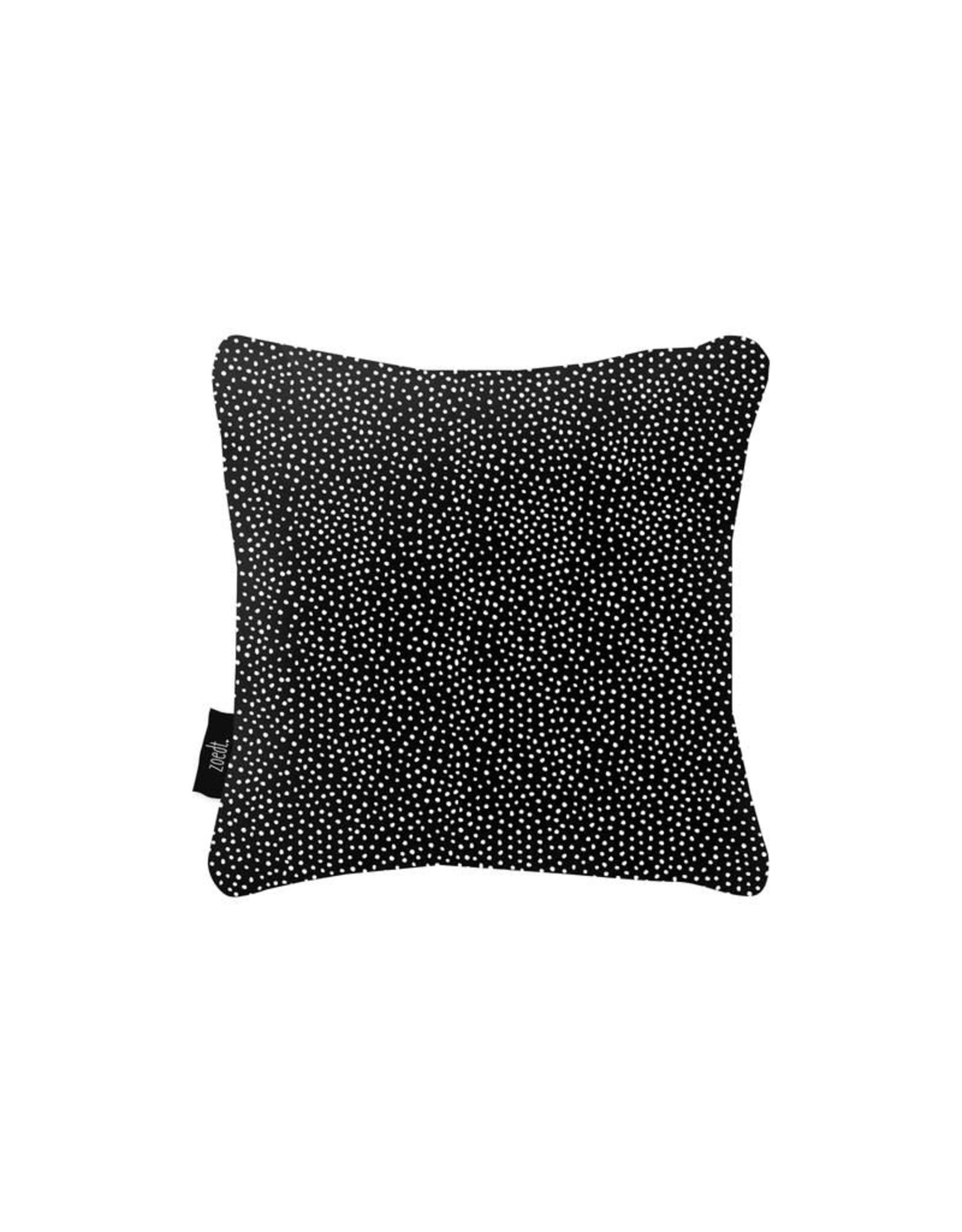 Buitenkussen 'Hart' zwart vierkant