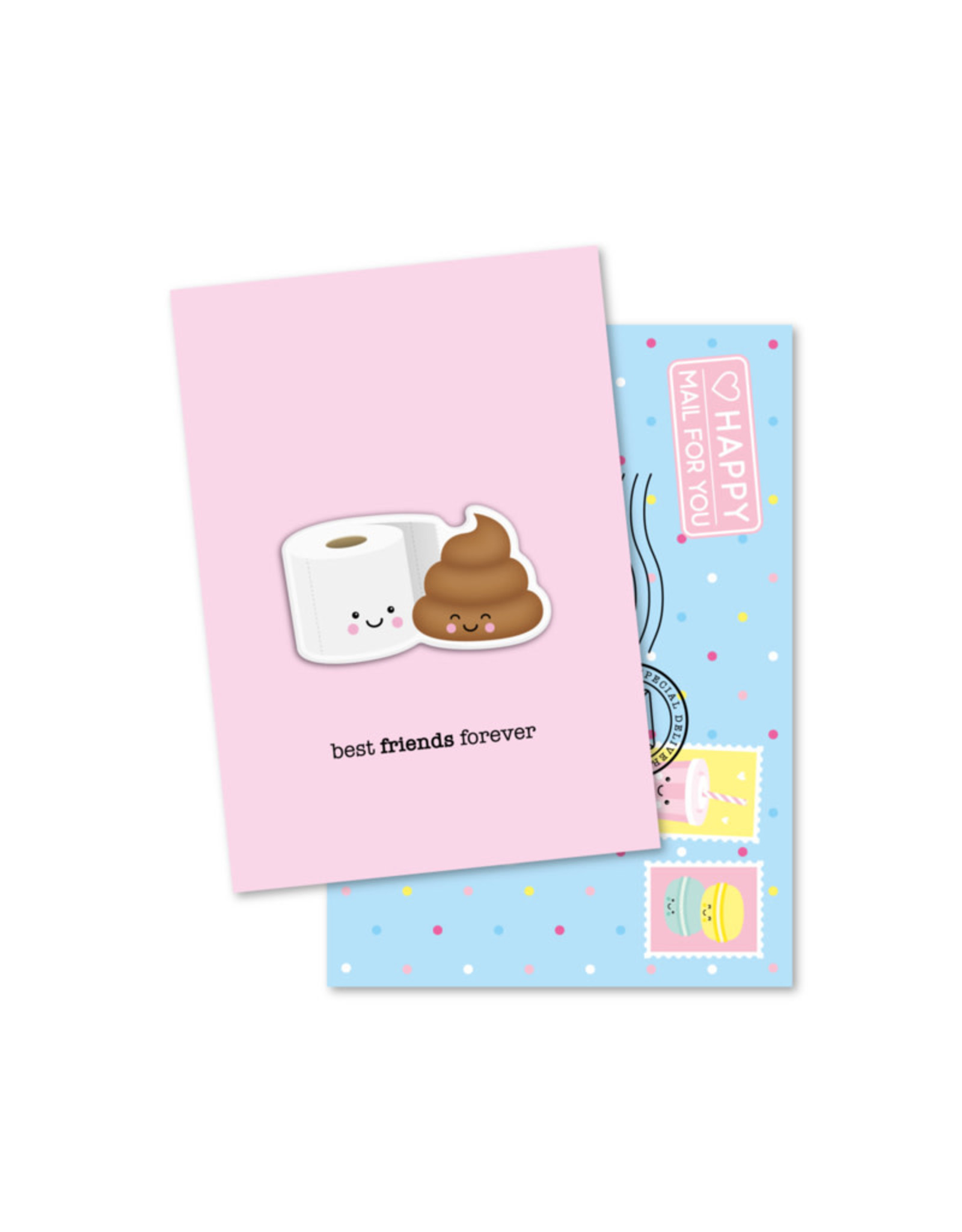 Magneetkaart & enveloppe Best friends forever