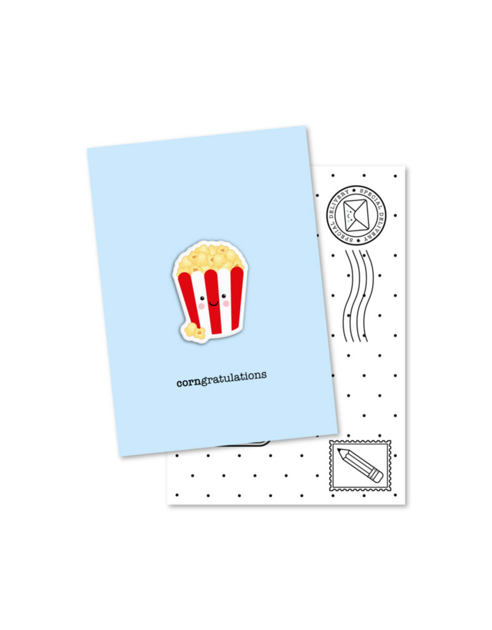 Magneetkaart & enveloppe CORNgratulations