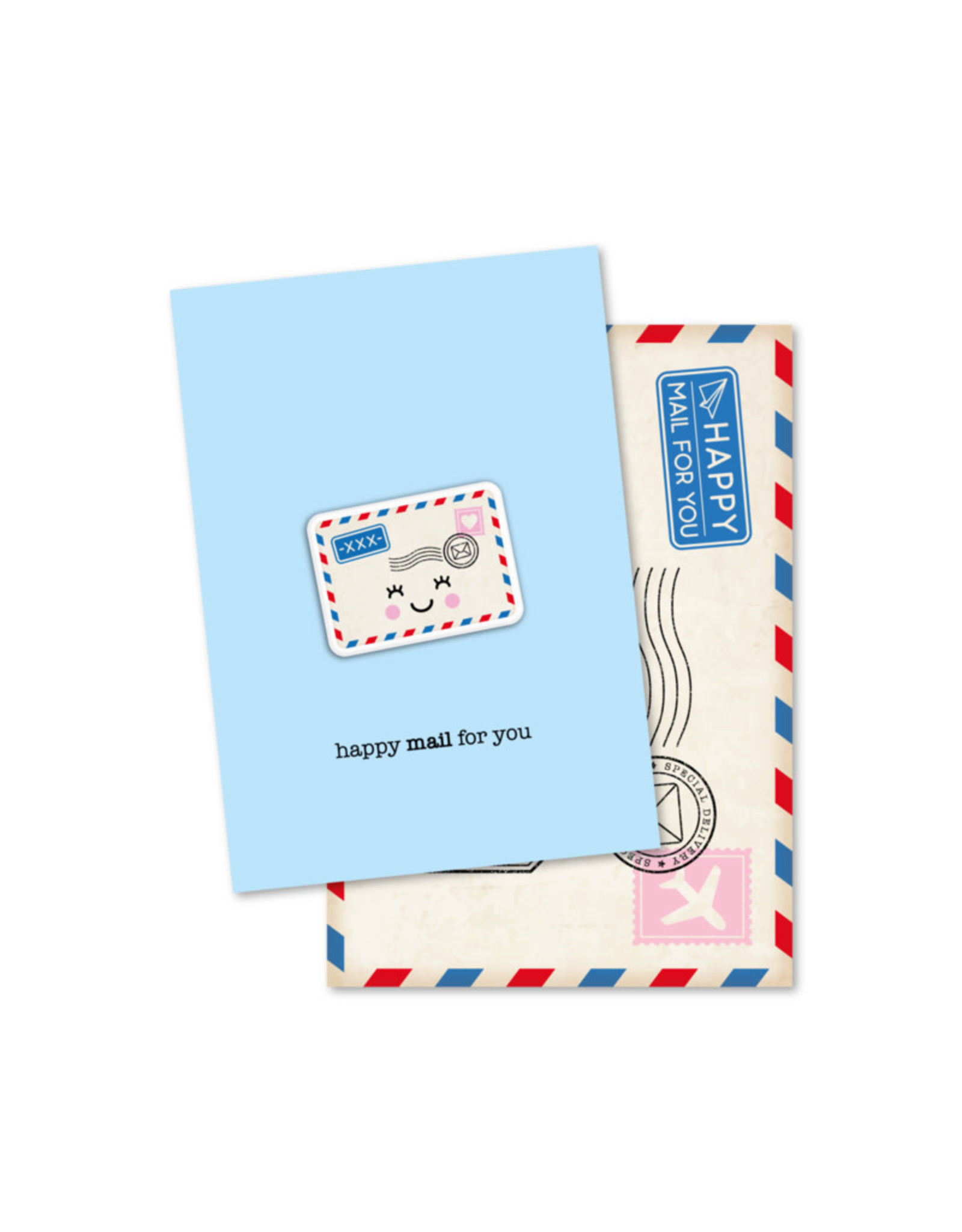 Magneetkaart & enveloppe Happy mail for you