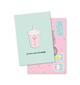 Magneetkaart & enveloppe Jij bent mijn favoRIETJE