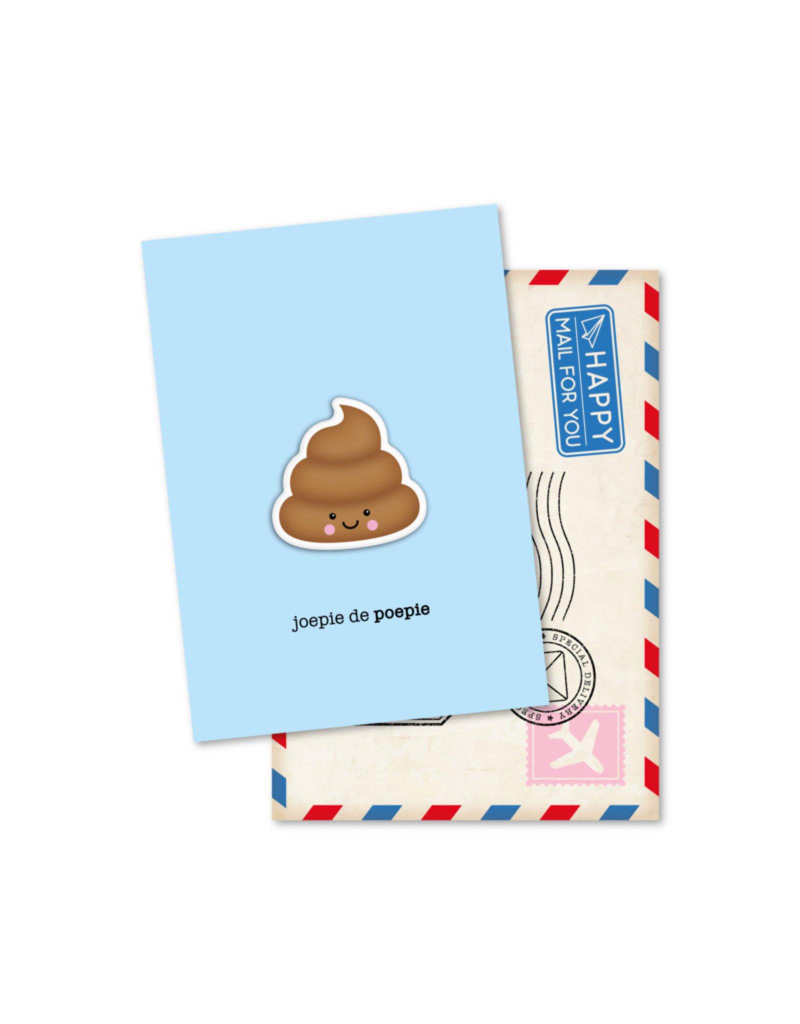 Magneetkaart & enveloppe Joepie de Poepie