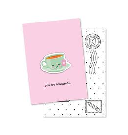 Magneetkaart & enveloppe You are beyouTEAful