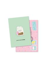 Magneetkaart & enveloppe You're my besTEA