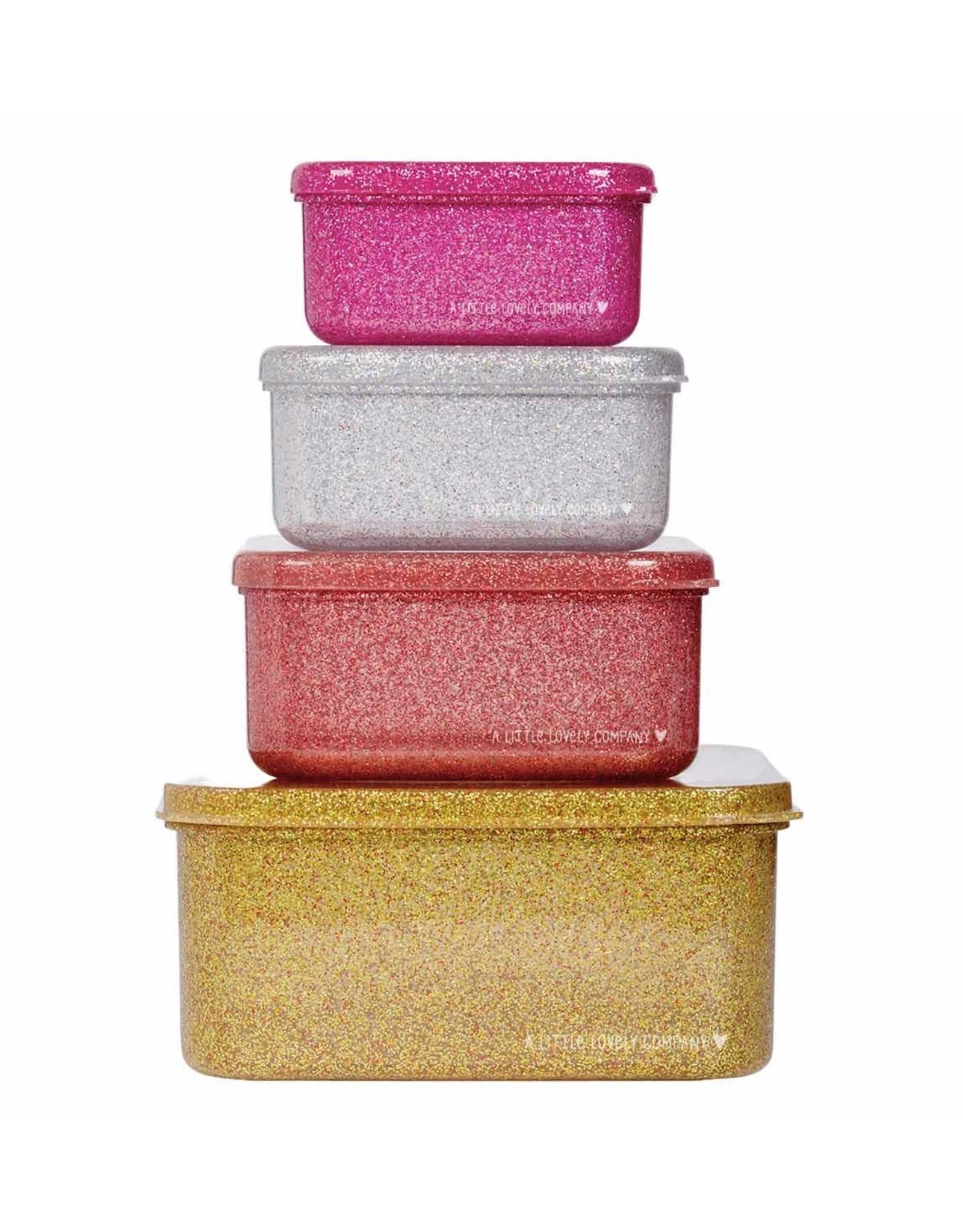 Brood- & koekendoosjes glitter goud