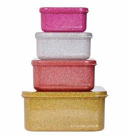 Brood- en koekendoosjes glitter goud