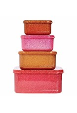 Brood- en koekendoosjes glitter roest