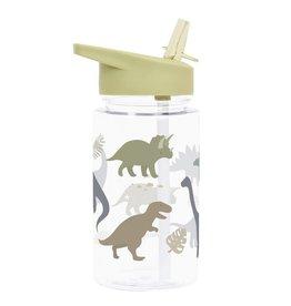 Drinkfles met rietje dinosaurus