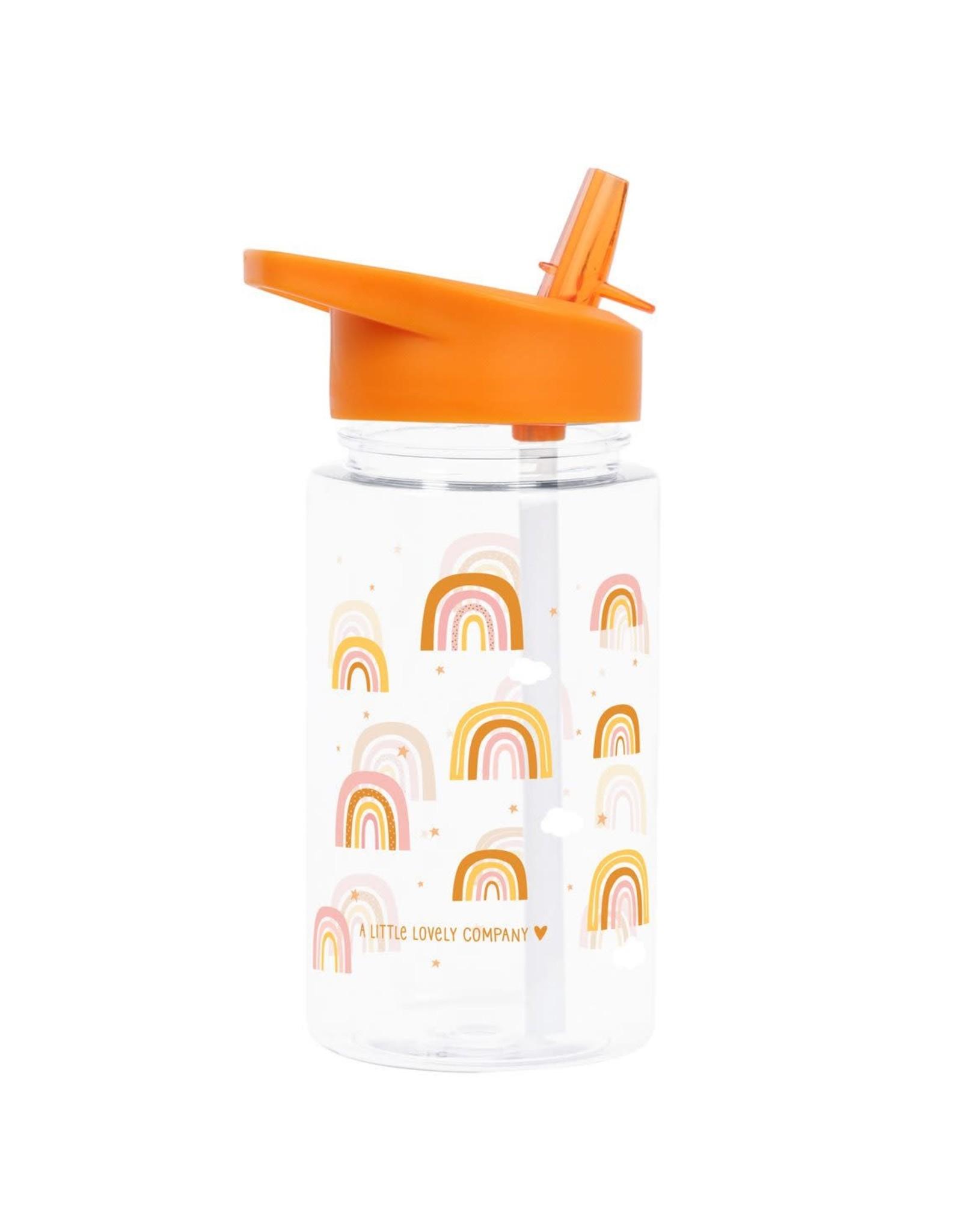 Drinkfles met rietje regenboog