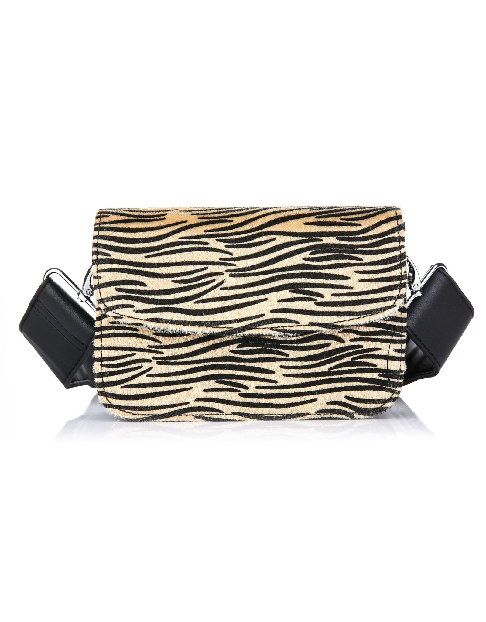 Handtas tijger beige