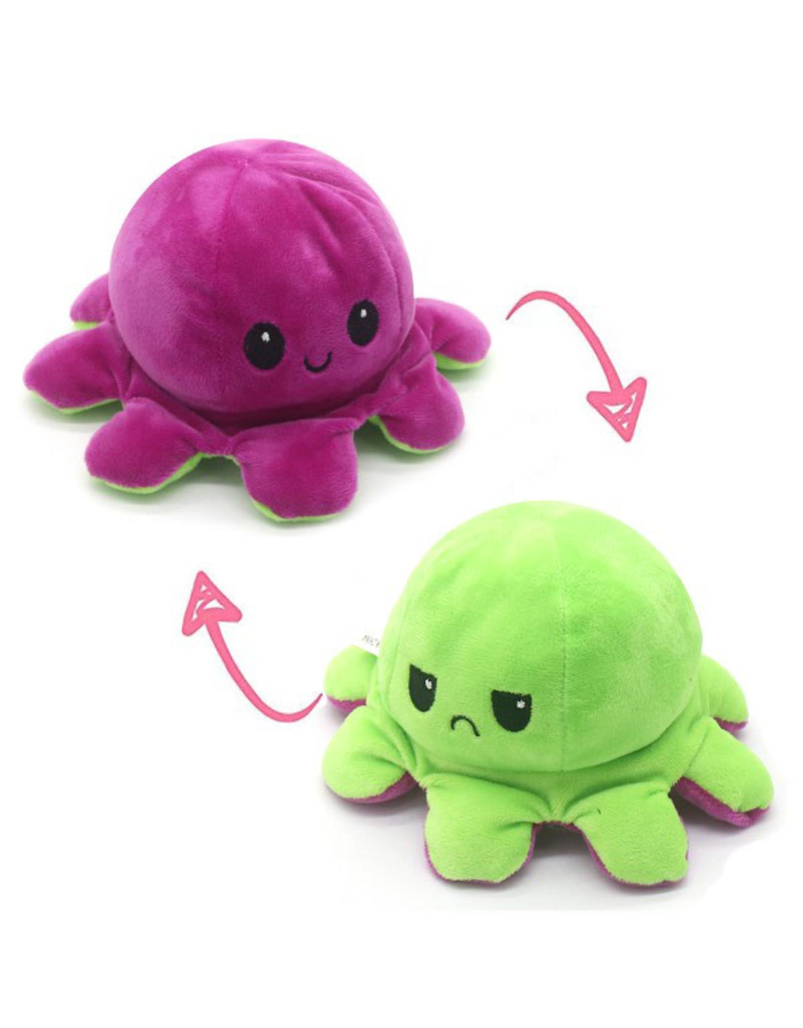 Omkeerbare octopus fuchsia/groen