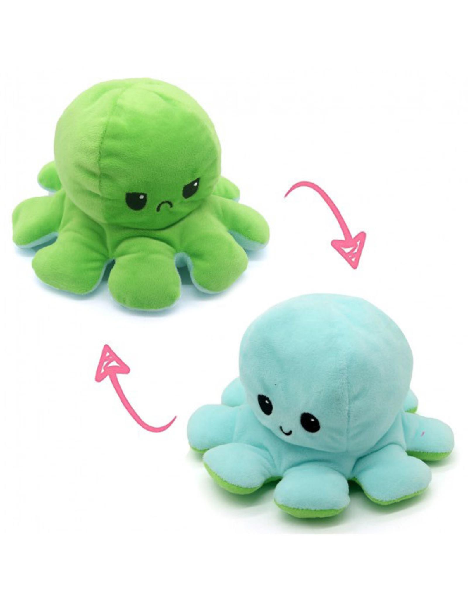 Omkeerbare octopus blauw/groen
