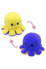 Omkeerbare octopus donkerblauw/geel