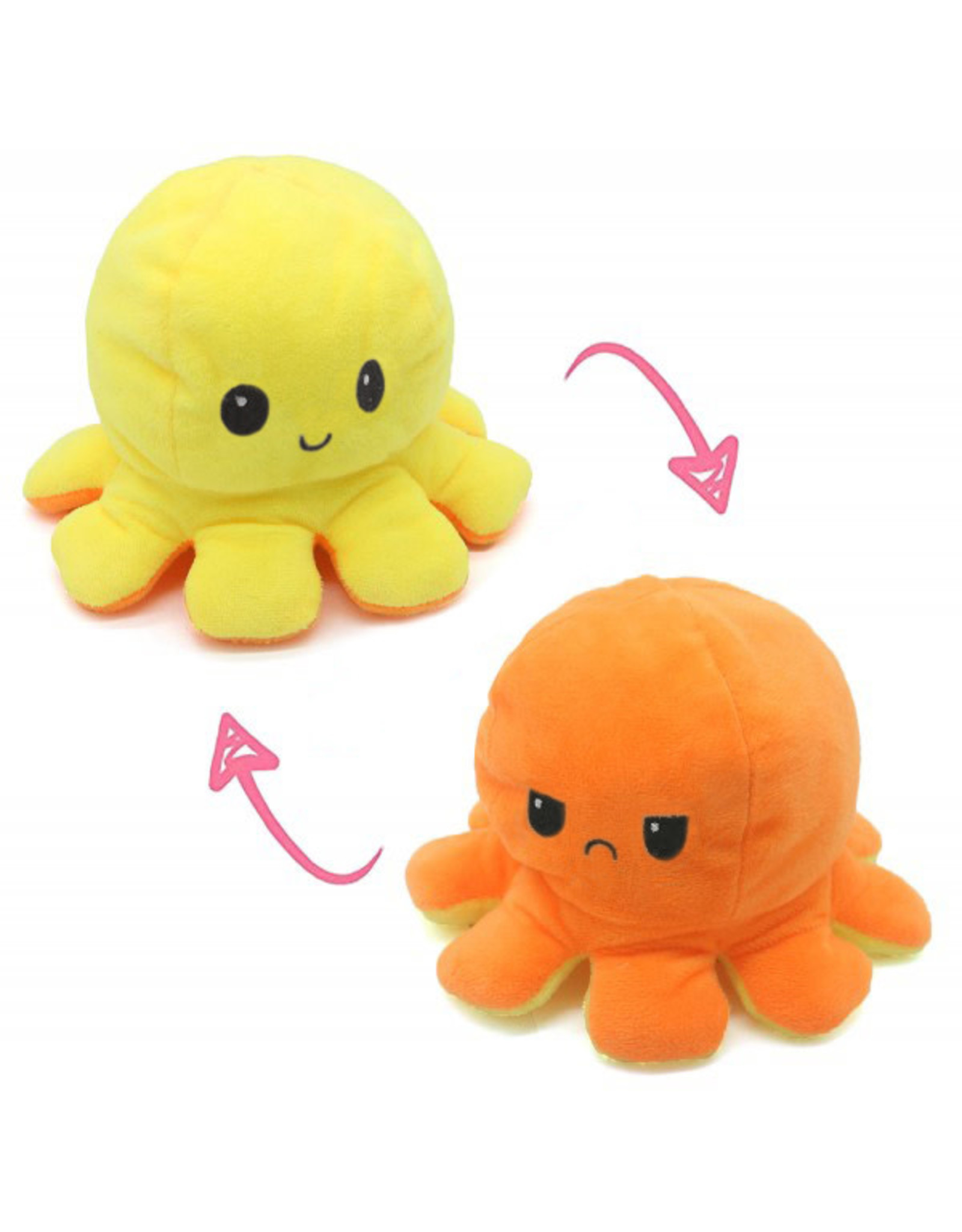 Omkeerbare octopus geel/oranje