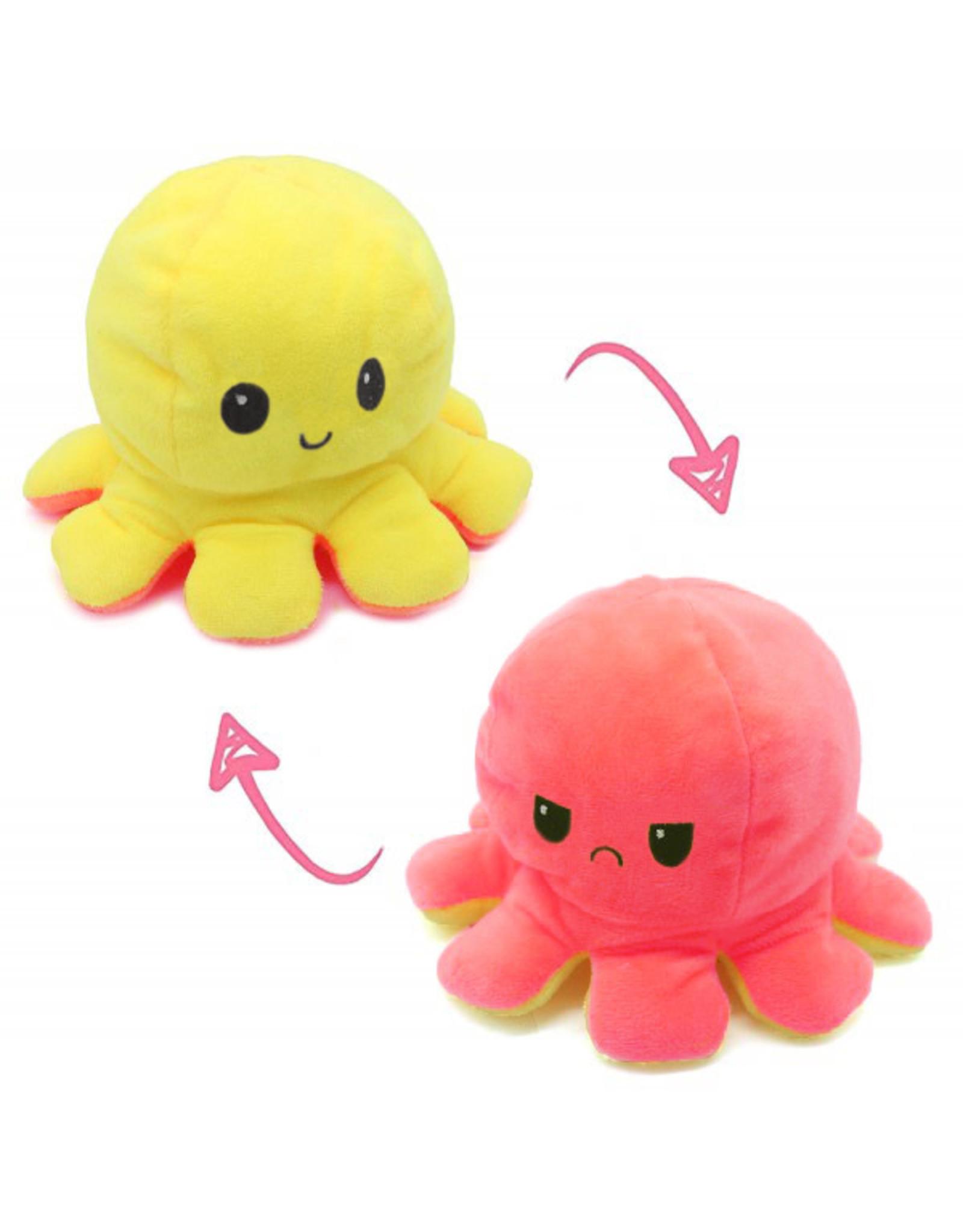 Omkeerbare octopus roze/geel