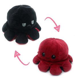 Omkeerbare octopus zwart/bordeaux