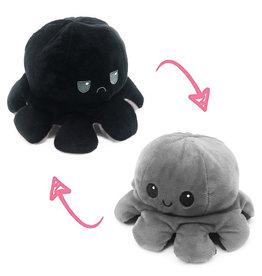 Omkeerbare octopus zwart/grijs