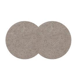 oorbEllen leder stekers rond 35mm beige
