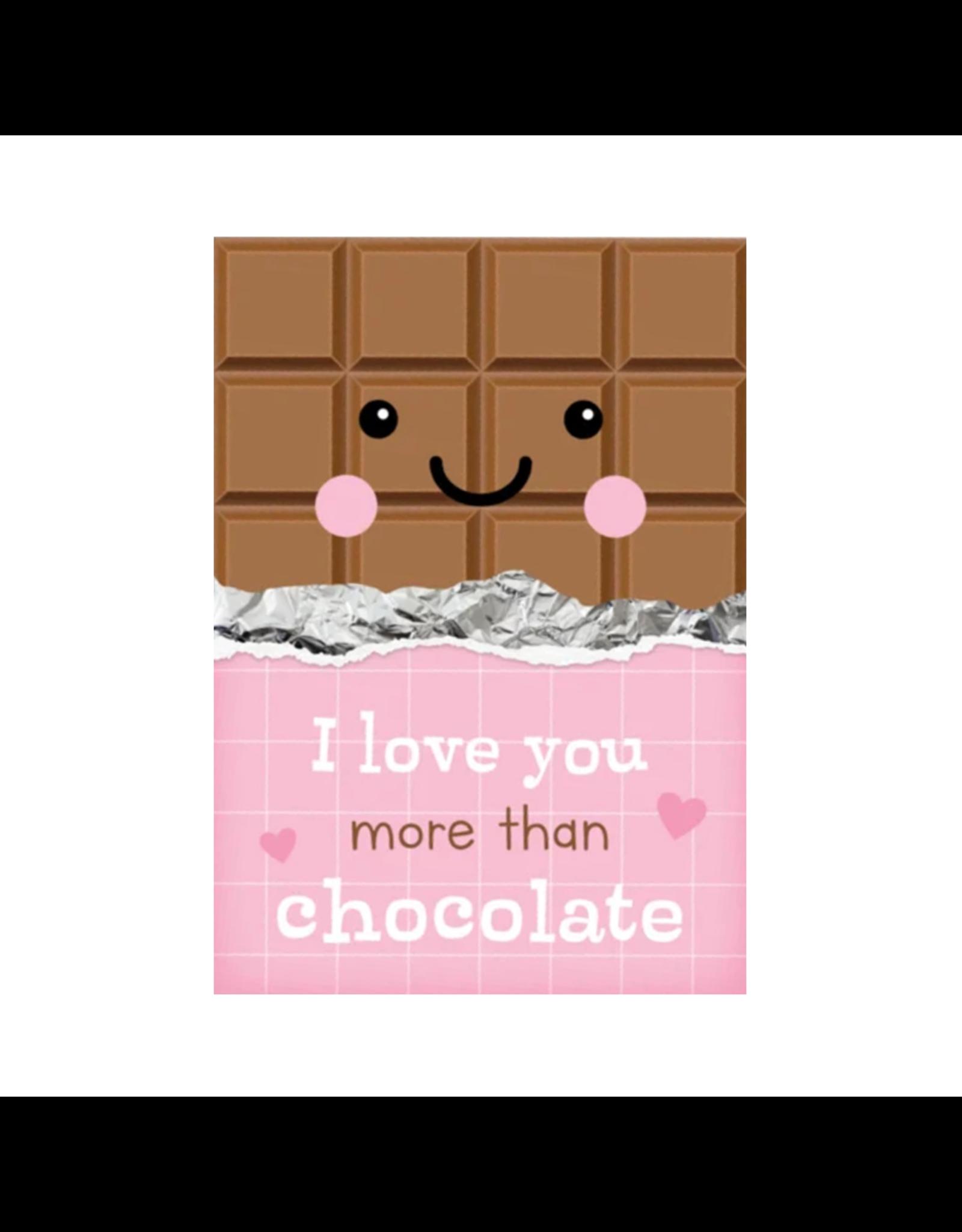 Postkaart I love you more than chocolate