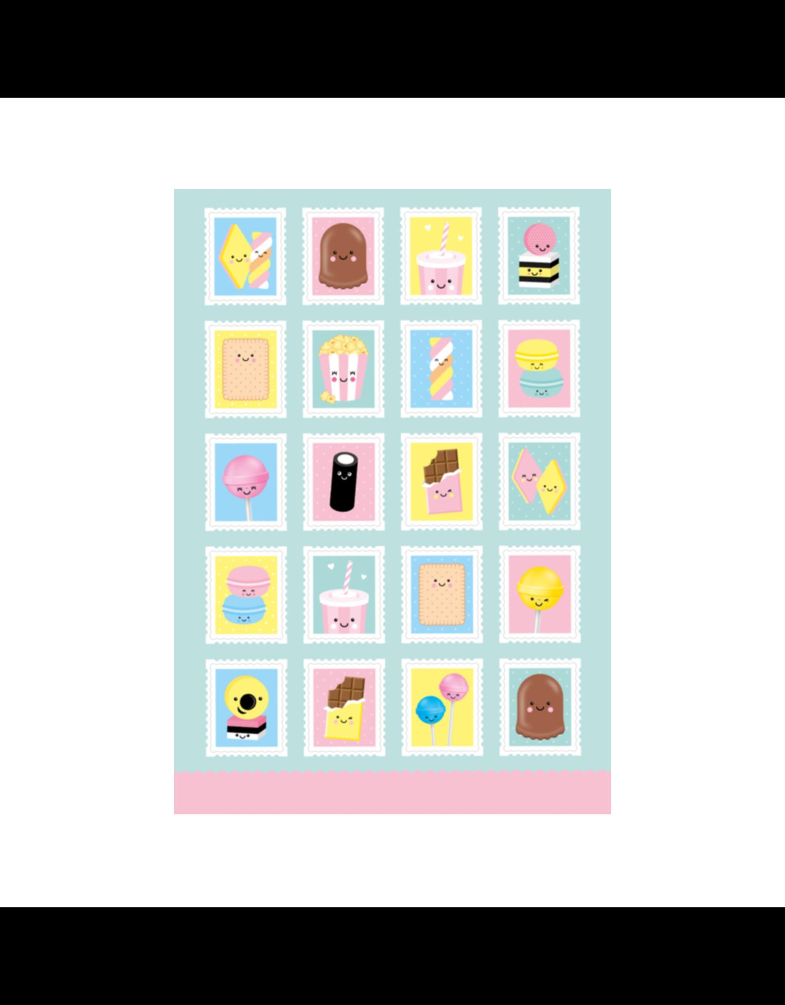 Stickervel postzegels A5