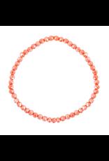 Armbandje strass oranje