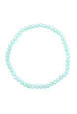 Armbandje strass turquoise