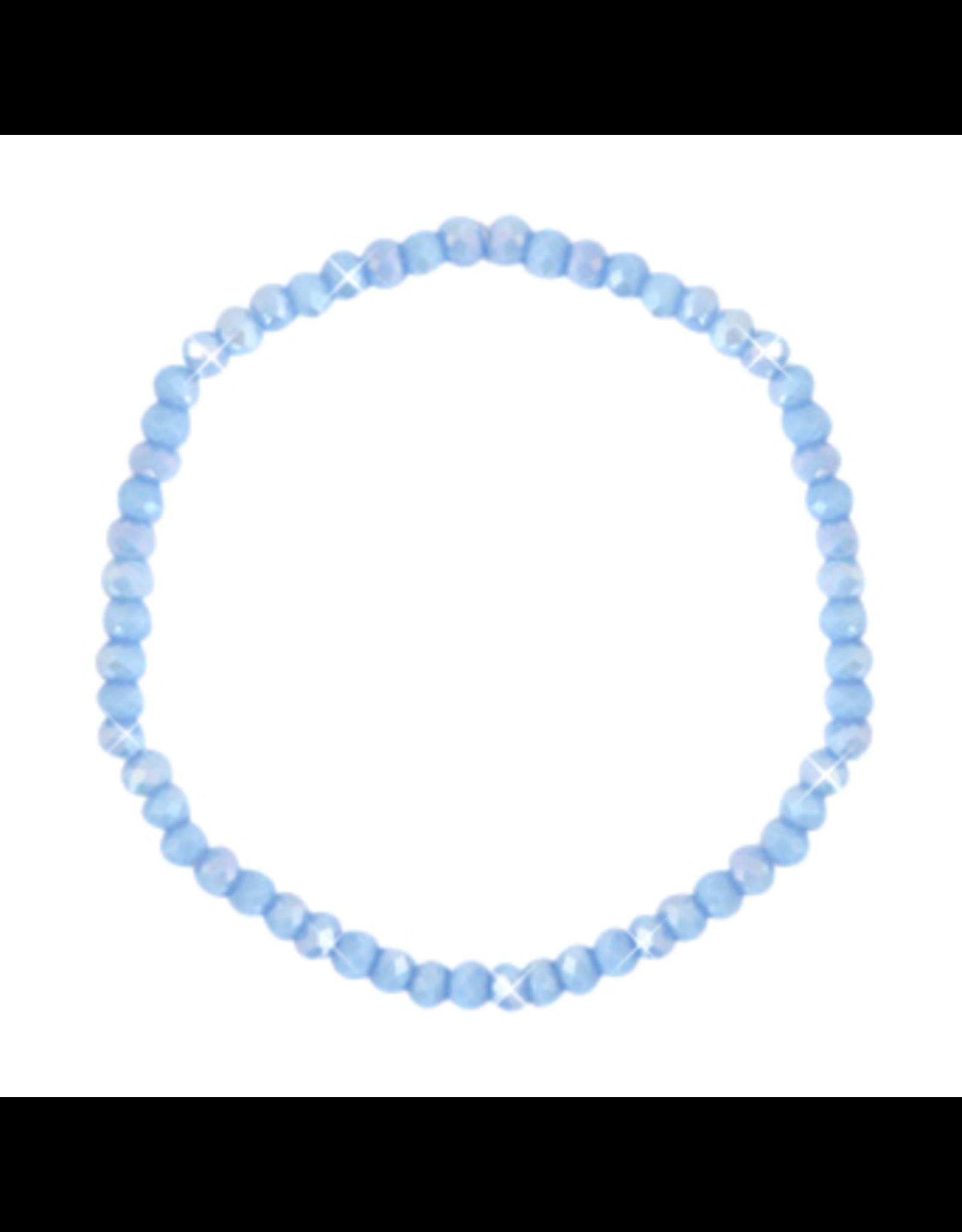 Armbandje strass korenblauw