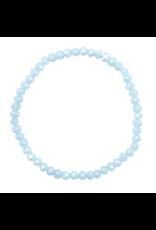 Armbandje strass lichtblauw